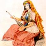 Azerbaijani playing on an instrument