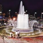 Leyili and Majnun fountain at square named after M Fizuli