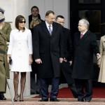 Polish President Kaczynski invites President of Azerbaijan Aliyev to inspect Guard of Honor in Warsaw